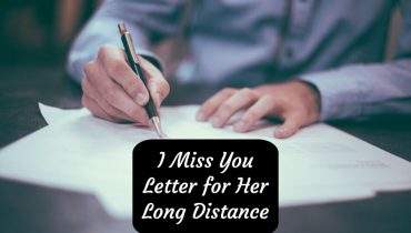 I Miss You Letter for Her Long Distance