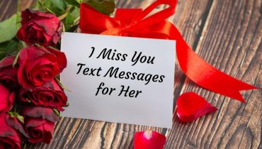 I Miss You Text Messages for Her